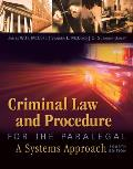 Criminal Law & Procedure For The Paralegal