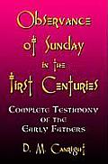 Observance of Sunday in the First Centuries