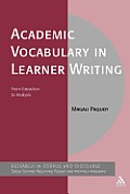 Corpus and Discourse #52: Academic Vocabulary in Learner Writing: From Extraction to Analysis