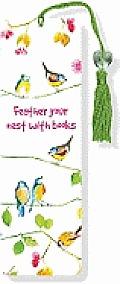 Watercolor Birds Beaded Bookmark