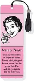 Senility Prayer Beaded Bookmark