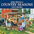 John Sloane's Country Seasons 2014 Mini Wall Calendar Cover