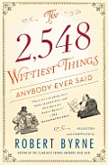 The 2,548 Wittiest Things Anybody Ever Said Cover
