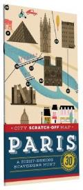City Scratch-Off Map: Paris: A Sight-Seeing Scavenger Hunt