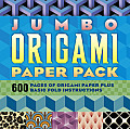 Jumbo Origami Paper Pack: 600 Pieces of Origami Paper Plus Basic Fold Instructions