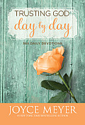 Trusting God Day by Day: 365 Daily Devotions (Large Print) Cover