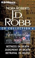 J.D. Robb CD Collection 4: Witness in Death, Judgment in Death, Betrayal in Death Cover