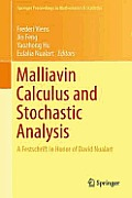 Malliavin Calculus and Stochastic Analysis: A Festschrift in Honor of David Nualart