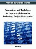 Perspectives and Techniques for Improving Information Technology Project Management