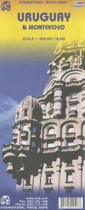 Uruguay & Montevideo Travel Reference Map: 1:800k/1:10k