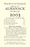 Poor Richard's Almanack for 2003