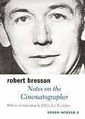 Green Integer Books #2: Notes on the Cinematographer Cover