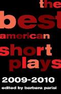 The Best American Short Plays 2009-2010 (Best American Short Plays) Cover