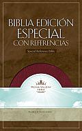 RVR 1960 Biblia con Referencias, borgoña piel fabricada con índice