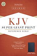 Bible Kjv Super Giant Print Blue