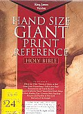 KJV Giant Print Reference Bible, Burgundy Bonded Leather