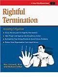 Rightful Termination Avoiding Litigation