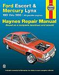 Ford Escort & Mercury Lynx Repair Manual 1981 1990