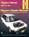 Toyota Tercel Repair Manual 1987 1994