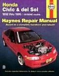 Haynes Honda Civic and del Sol, 1992-95 (Haynes Automotive Repair Manual Series)