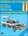 General Motors - Buick Skylark, Chevrolet Citation, Oldsmobile Omega, Pontiac Phoenix: 1980 Thru 1985
