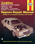 Cadillac Rwd Automotive Repair Manual (Haynes Automotive Repair Manuals Series) Cover