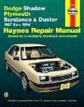 Haynes: Dodge Shadow, 1987-1994 (Haynes Automotive Repair Manual Series) Cover