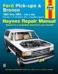 Ford Full-Size Pickups and Bronco, 1980-1996 Repair Manual.  F-100 thru F-350, Gasoline Engines Cover