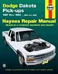 Dodge Dakota Pickups Repair Manual 1987 1996 2WD & 4WD