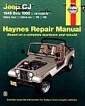 Jeep Cj Automotive Repair Manual: All Models 1949-1986