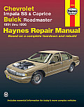 Chevrolet Impala SS & Caprice, Buick Roadmaster Automotive Repair Manual 1991-1996 Cover