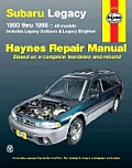 Haynes Subaru Legacy 1990-1998 (Haynes Automotive Repair Manual Series) Cover