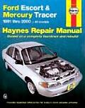Ford Escort & Mercury Tracer Automotive Repair Manual (Haynes Automotive Repair Manual Series) Cover