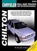 Chrysler Full-Size Trucks, Dakota & Durango 1997-2000 (Chilton's Total Car Care Repair Manuals)