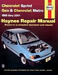 Chevrolet Sprint & Geo Metro Automotive Repair Manual 1985 Thru 2001