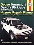 Dodge Durango & Dakota 2000 03 Repair Manual