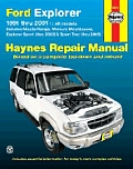 Ford Explorer Repair Manual 1991 2001 Includes Mazda Navajo Mercury Mountaineer Exploerer Sport thru 2003 & Sport Trac thru 2005