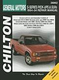 General Motors S-Series Pick-Ups and SUVs 1994-04 Repair Manual (Chilton's Total Car Care Repair Manuals)