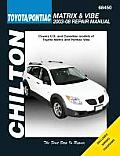 Chilton's Toyota Matrix & Pontiac Vibe 2003-08 Repair Manual (Chilton's Total Car Care Repair Manuals) Cover