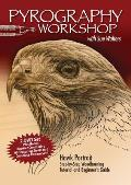 Pyrography Workshop with Sue Walters: Hawk Portrait: Step-By-Step Woodburning Tutorial and Beginner's Guide Containing 60 Texturing Styles and Complet Cover