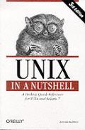 Unix in a Nutshell 3RD Edition Desktop Quick Ref