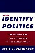 From Identity to Politics The Lesbian & Gay Movements in the United States