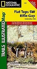 Flat Tops SW Rifle Gap Outdoor Recreation Map: Colorado, USA