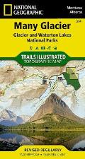 Many Glacier - Glacier National Park: Trails Illustrated - National Park Maps