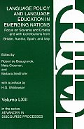 Language Policy and Language Education in Emerging Nations: Focus on Slovenia and Croatia with Contributions from Britain, Austria, Spain, and Italy