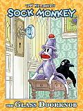 Glass Doorknob Sock Monkey