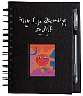 My Life According to Me Journal With One Silver Metallic Pen