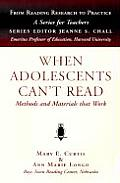 When Adolescents Cant Read Methods An