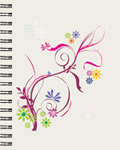 Flower Design Large Lined Journal