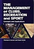 Management Of Clubs Recreation & Sport